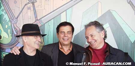 Moebius, Gérard Majax et Patrick Bensaval patron de Xlargo