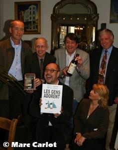 Bernard Helson, Luc Pire, Frédéric Jannin, Alain Vercouter (Vins Niepoort), Stefan Liberski, Christine Dandoy