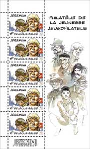 Feuille de timbres Jeremiah