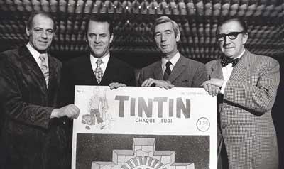Paul Cuvelier, Raymond Leblanc, Hergé et Edgar P. Jacobs
