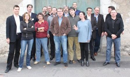 Photo à l'issue de la réunion de l'ACBD lors de bd BOUM 2009 © Manuel F. Picaud / ACBD