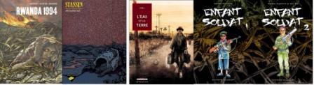 Albums sur les génocides au Rwanda et au Cambodge