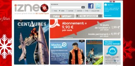 copie d'écran du site Izneo.com