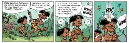 extrait de la planche 1 de Marsu Kids © Didier Conrad et Wilbur / Marsu Productions 2011