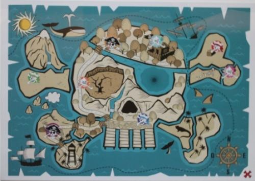 Carte au trésor de l'Ile aux Pirates à la Cité © Manuel F. Picaud / auracan.com