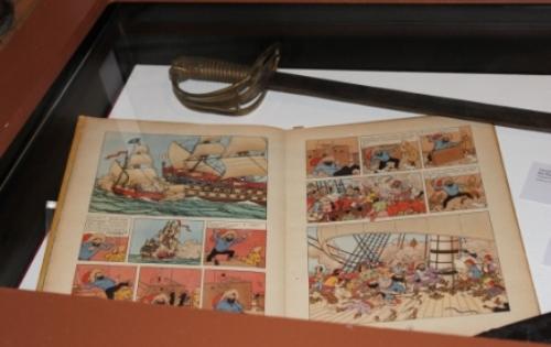 Un très vieil original de Tintin et Rahkham le Rouge© Manuel F. Picaud / auracan.com