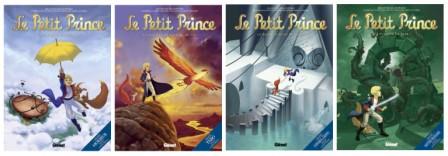 couvertures des 4 premiers tomes du Petit Prince