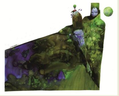 Illustration Fauconnier vert © Toppi / Mosquito
