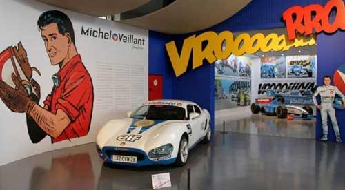 L'espace Michel Vaillant à l'Autoworld de Bruxelles © Jean-Jacques Procureur