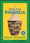 Timbre Anniversaire Rwanda
