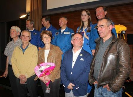 Les astronautes autour de Tania, Pierre-Emmanuel Paulis et Philippe Francq (c) jean-Jacques Procureur /  Auracan.com