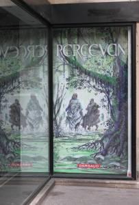 Affiche en vitrine à la Galerie Napoléon © Manuel Picaud / 2013