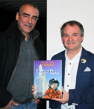 Philippe Francq et Pierre-Emmanuel Paulis présentent l'intégrale L'Europe dans l'Espace, publié aux éditions Joker (c) Jean-Jacques Procureur / Auracan.com