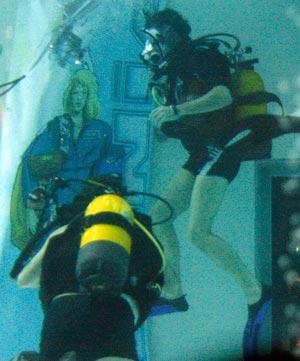 La démonstration de plongée par les astronautes (c) M. Carlot / Auracan.com