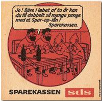 Un sous-bock allemand avec Tintin et Haddock © Hergé, Moulinsart 2013