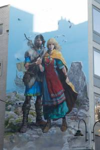 La fresque Thorgal et Aaricia