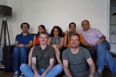 L'équipe parisienne : Franck Bourgeron, Luce Théry, Sylvain Ricard, Myrto Reiss, Elhadi Yazi, David Servenay et Olivier Bras © DR