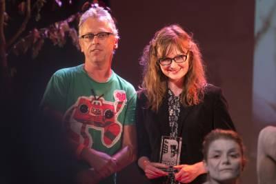 Zidrou et la lauréate du Prix Raymond Leblanc, Hélène Vandenbussche