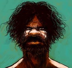 Un aborigène © Nicloux