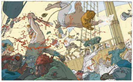 Extrait de Gitans des mers - T.1 © Stéphane Duval et Philippe Bonifay / Dupuis