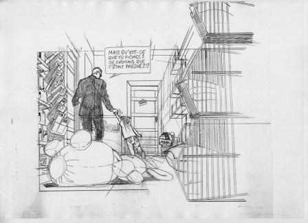 Dessin préparatoire de Lloyd Singer © Luc Brunschwig et Olivier Martin / Bamboo, collection Grand Angle