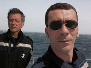 Bernard Giraudeau et Christian Cailleaux