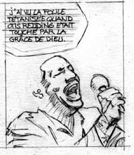 Extrait de Le Casse - T.3 : Soul Man - crayonné de la planche 18 © David Chauvel et Denys / Delcourt