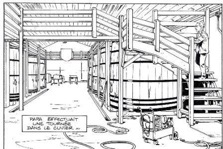 Extrait Châteaux Bordeaux – T.1 – planche 10 (encrage) © Espé – Corbeyran / Glénat
