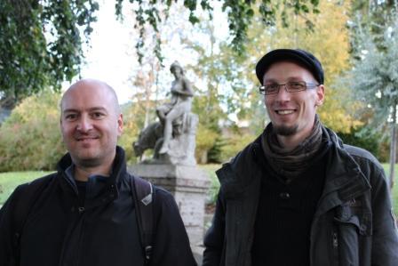 Régis Hautière et François David au Familistère de Guise © Manuel F. Picaud / Auracan.com – octobre 2010