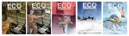 Projets de couvertures de Ecowarriors © Chris Lamquet et Richard Marazano / 12 bis