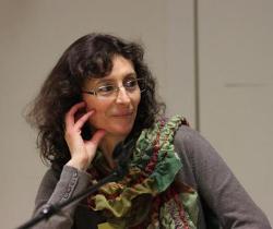 Photo de Marie Moinard lors de la conférence de presse chez Amnesty International le 7 mars 2011 © Manuel F. Picaud / Auracan.com