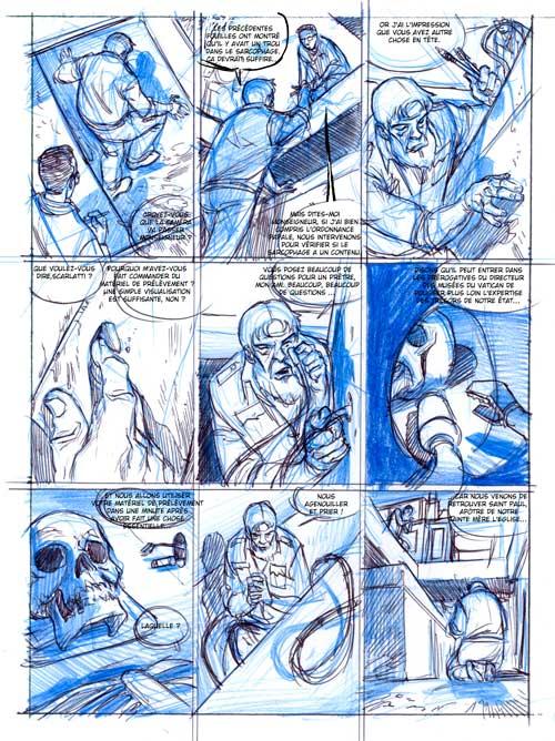 Le Messager T4 - crayonné de la page 3
