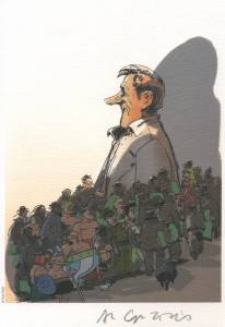 caricature hommage d'Uderzo par Coutelis