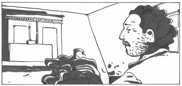 encrage du strip 1 de la planche 18