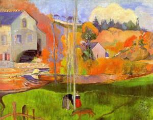 Paul Gauguin (1848-1903), Le manguier. Paysage au chien rouge, Paris, Musée d'Orsay.
