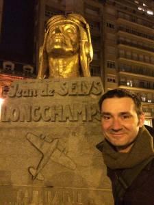 A Bruxelles, près du monument à J. de Selys Longchamps