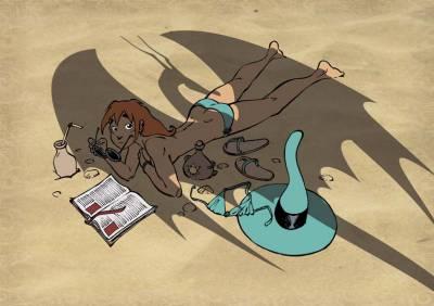 Mélusine à la plage (projet pour un supplément pour Spirou)
