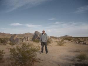 Jerry Frissen dans le désert © DR
