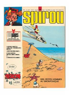 Quand Franquin présentait Seron en couverture de Spirou (1972)